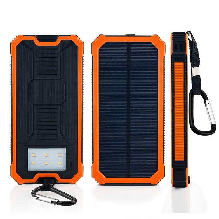 2016 new solar power bank 10000mah polymer battery outdoor solar battery chargers 12V