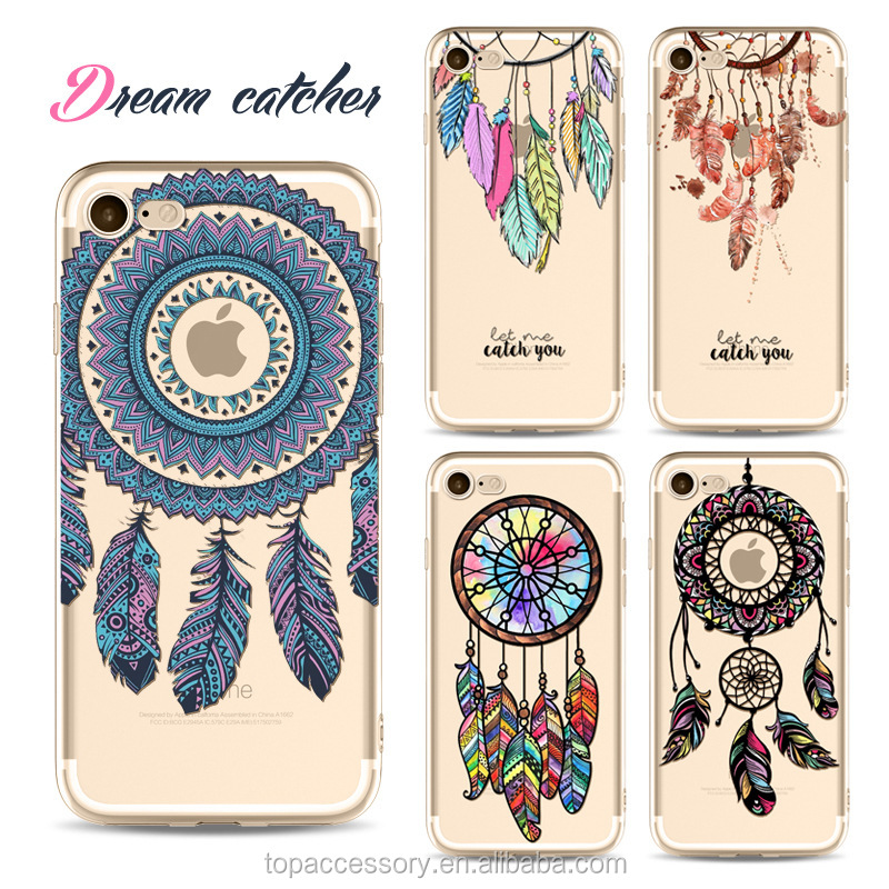 2017 Fashion Creativedream catcher painting mobile cell phone cases for Iphone