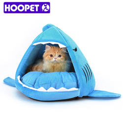 Pet products manufacturer shark shaped pet house tiny cat dog beds