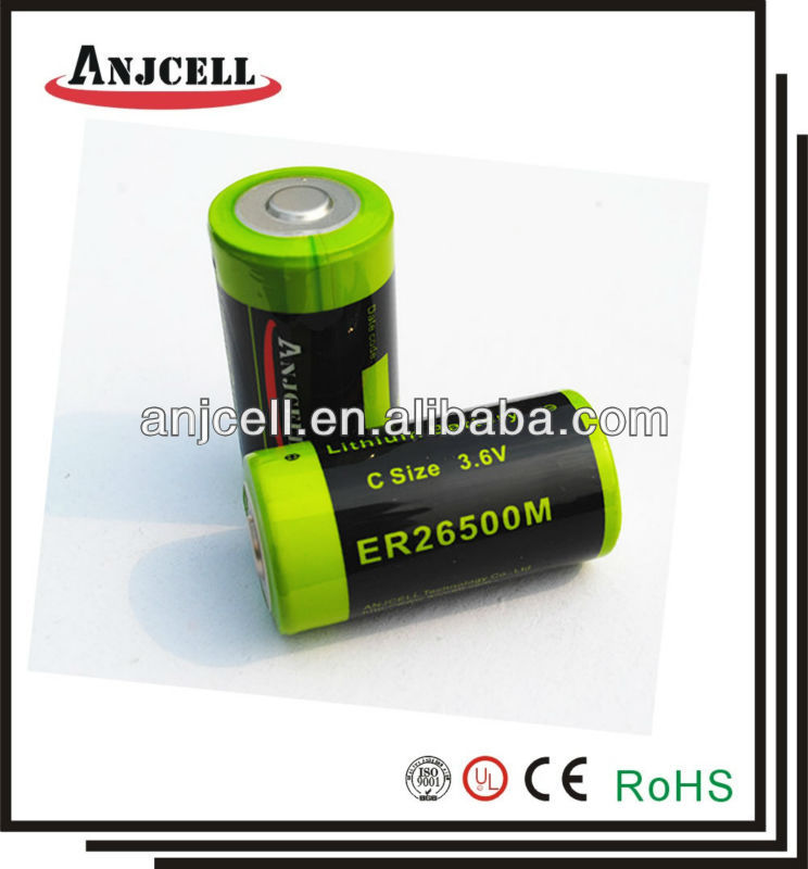 3.6V Primary Lithium Battery ER26500M C Size equal to LSH14 Lithium Battery ER26500M