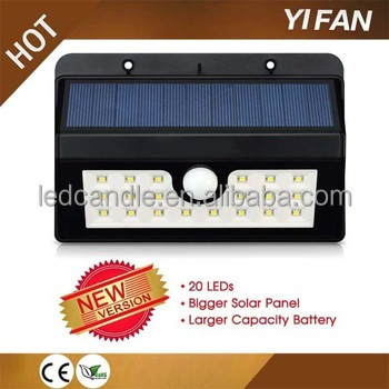 Sun power solar panel 20LED light solar system with High Efficiency sensor