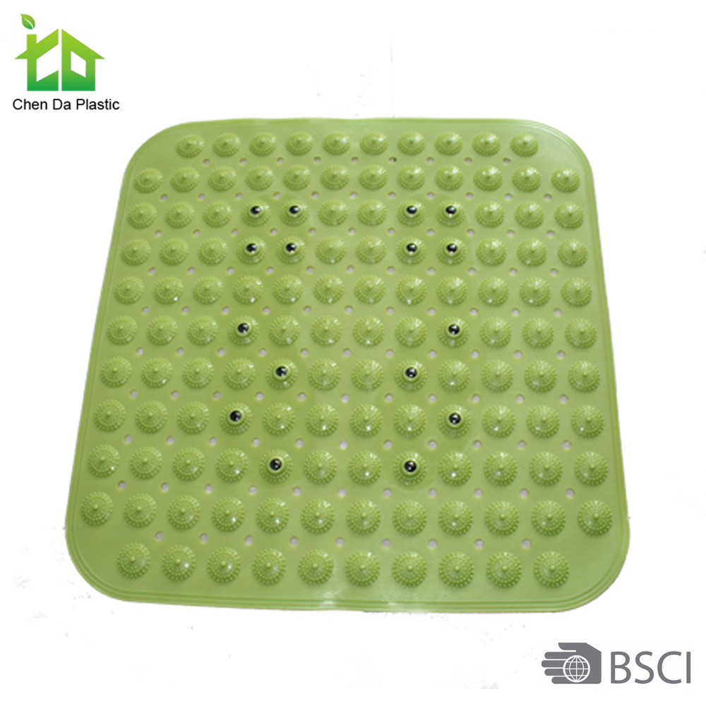 Fashion plastic bathroom set bath mat material