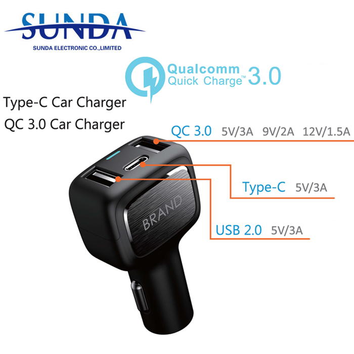 5,9,<strong>12</strong>,15V/2A; 20V/1.5A power delivery PD car charger