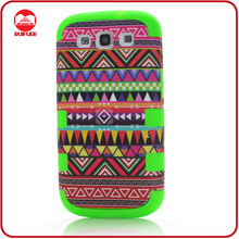 New Global Indian Design Hard Shock Proof Rubber Combo Cover for Galaxy S3 Heavy Duty Case