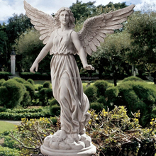 Famous concrete stone angel of patience marble young girl angel statue