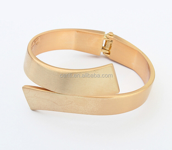 High Quality Gold Cuff Bangle Wide Metal Bangle High Class Europe Simple Metal Cuff Bangle