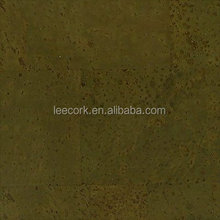 4mm Cork flooring covering tiles, heat and sound insulation, warm texture, popular pattern in 2017 - TS011-Olive