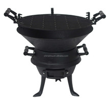 Cast Iron BBQ Grill/Cast Iron fire pit Chimenea, Durable to Use