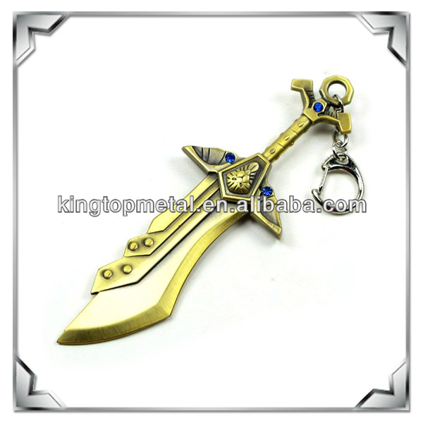 Game metal mini sword keychain