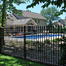 black metal fencing panels residential aluminum fence