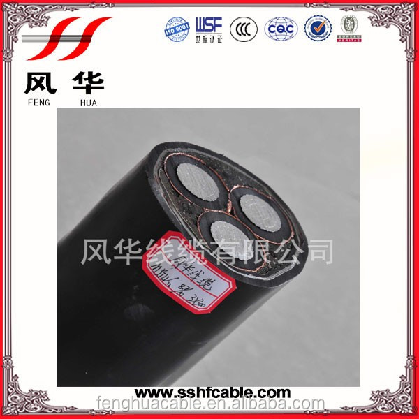 Copper Conductor XLPE Insulation Steel Wire Armour Electric Power Cable