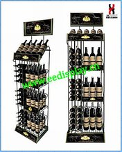 Funky wire metal wine tower metal/wine racks Display Stand/Metal Dish Display Rack for store or supermarket