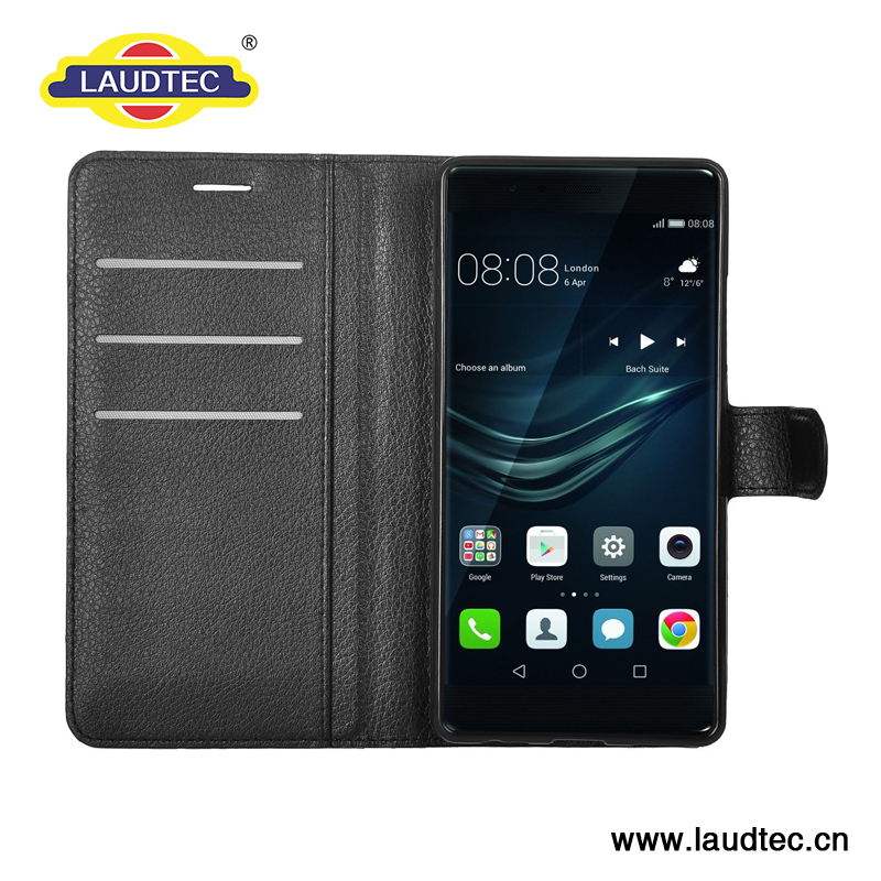 For Huawei P10 lite smartphone cover , litchi PU leather flip folio cover for Huawei P10 lite --------- Laudtec