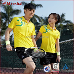 Yellow Table Tennis Training Jersey Cheap China Tennis Apparel