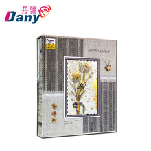 latest fancy novelty mini indian wedding cloth cover photo album with window