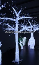 Crystal outdoor lighted twig christmas trees