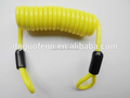 Wholesale yellow PVC / PU coating steel plastic coil spring lanyard