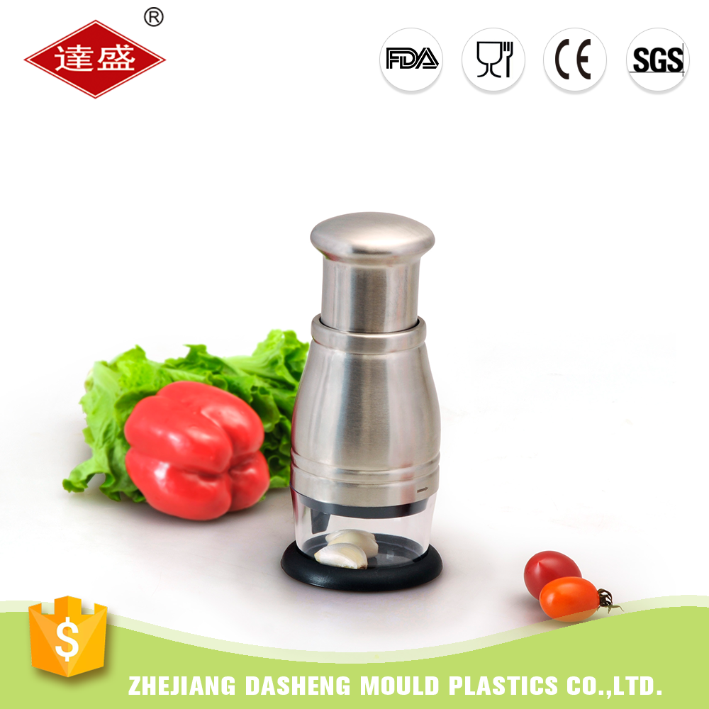 Manual S/S Salad Vegetable Chopper and Slicer Mini Hand Chopper Onion Garlic Mincer with Cover for Vegetables