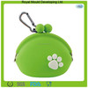 Portable silicone rubber jelly coin change purse with carabiner