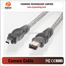 high speed 4pin to 6pin mini IEEE 1394 cable