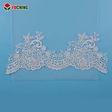 Eco-Friendly water soluble trim lace fabric embroidery for party dress