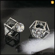 Charm drop earring with densing crystals and zircon crystal ball drop earrings ER0047