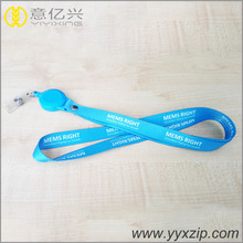 Double side custom sublimation printed Featured Badge Holders custom lanyard with ID Reels