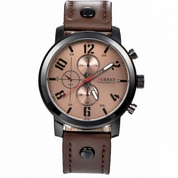 Brand Original CURREN Watches Men Casual Outdoor Sports Military Quartz Leather Men watch