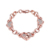 Fashion Rose Gold Plated Tin Crystal Love Heart Couple Bracelets