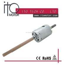 cordless drill dc motor rs 550/555 / threaded shaft high torque dc carbon brush motor /long shaft high power dc motor rs-555