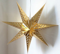 5.6.7.8 Angles hanging christmas decoration operated led light paper star