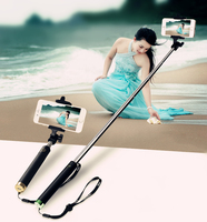 Hot Sale Smart Wireless Selfie Stick Tripod with shutter botton Mini Monopod for Travel Tourism mobile phone