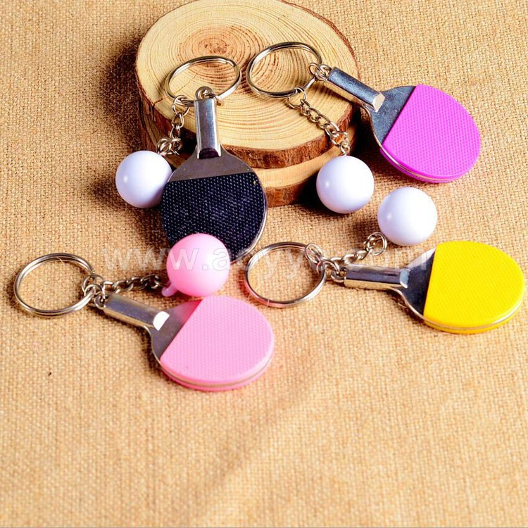New style creative personality handmade metal table tennis key chain