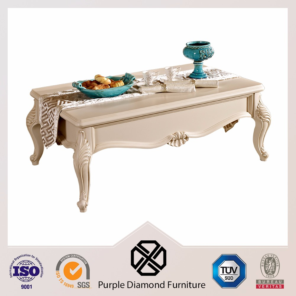 Living room furniture french style coffee table wood carved table bases