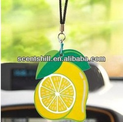 2016 New Top Custom Hanging Paper Car air freshener choose your scent fragrance