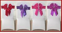 chair back sash with bowknot,new arrival hotsale 2015 ruffle chair sash wedding chair cover at factory price