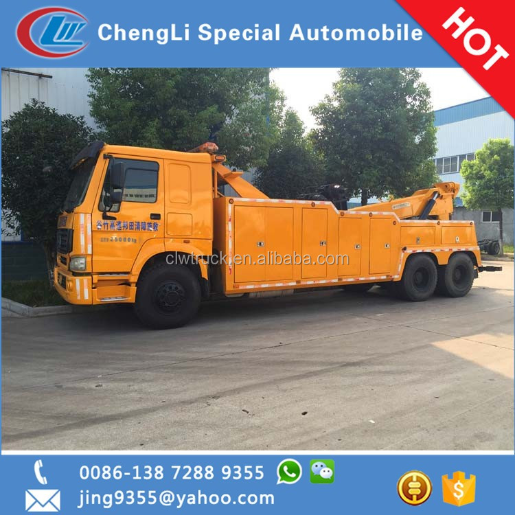 howo 6x4 heavy duty 20-25 tons rollback tow trucks for sale