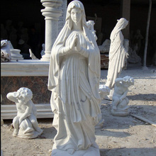life size religious stone marble figure Christian virgin Mary statue sculpture decoration for church