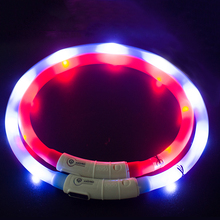 manufacturer wholesale led light rechargeable waterproof custom pp pet dog collar