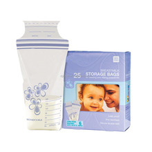Manufacture zip lock stand up disposable breast milk storage bag