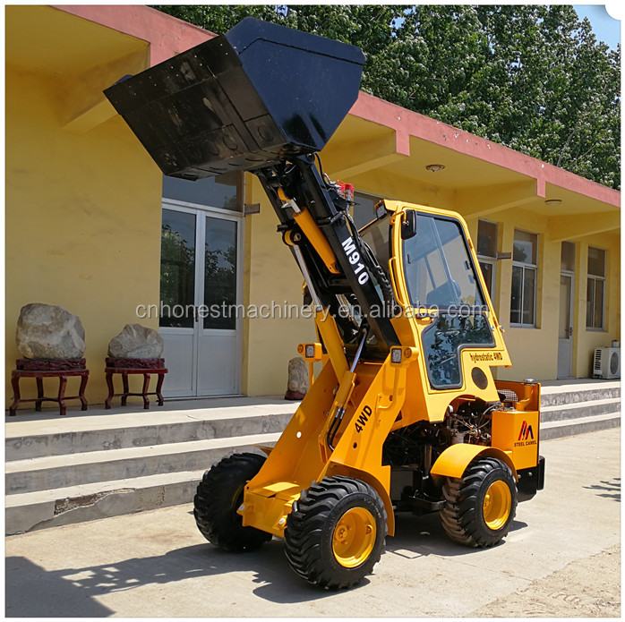 STEEL CAMEL brand mini hydrostatic 4 wheel drive telescopic loader for sale