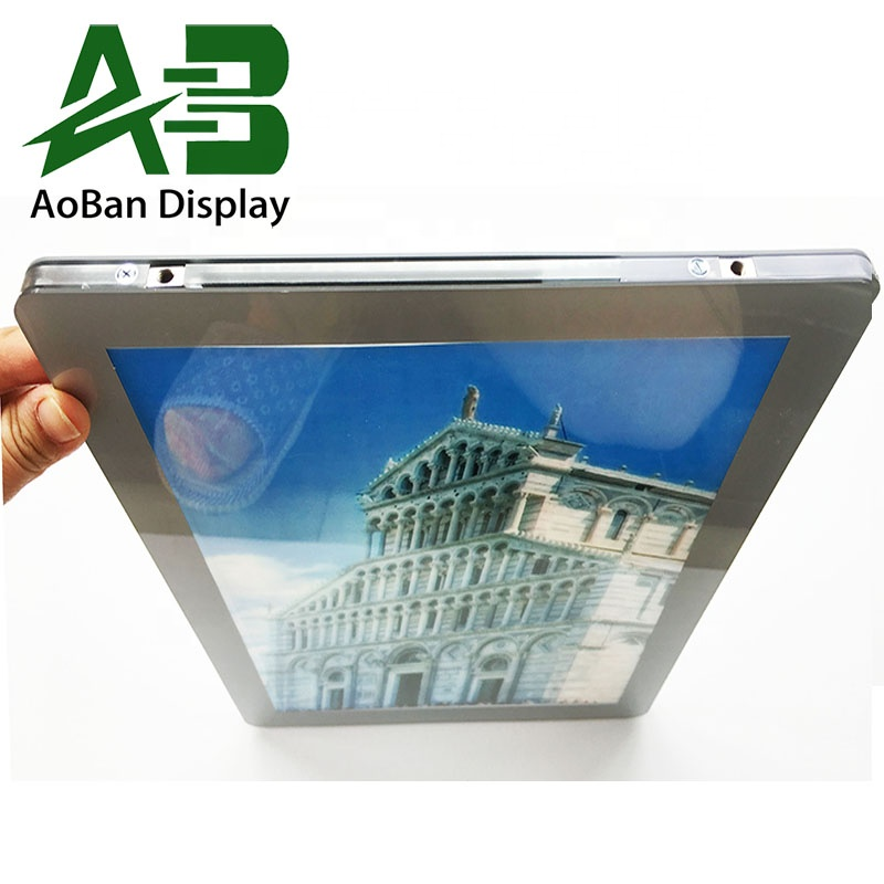 2019 Innovative A1234 <strong>Advertising</strong> Glass Acrylic Shop Front Cable Light Box Display travel agent