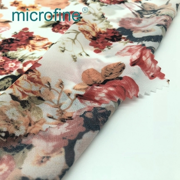 Polyester Printing Dress Small Flower Pongee Print Fabric