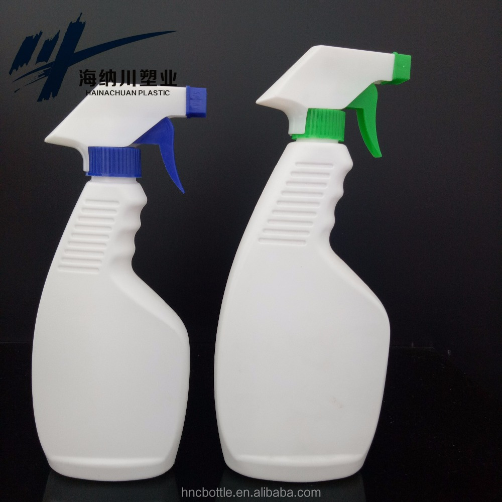 HDPE Plastic 500ml empty plastic toilet cleaner bottle refillable watering bottle with trigger sprayer