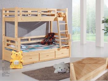 Cheap children wood bunk bed for kids acacia wood loft bed for Camas chinas baratas
