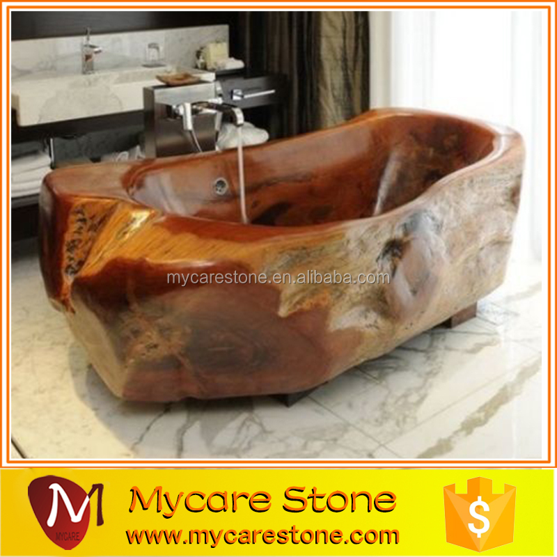 natural brown stone marble bathroom stone tub