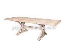 French Provincial Rustic Recycled Timber Dining Table Farmhouse Wood Table