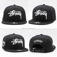 China Factory New Design Oem 100% Cotton embroidery Black Adjustable Colour Custom High Quality Snapback Hat
