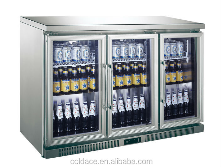 Stainless Steel Counter Top Soft Drink Refrigerator