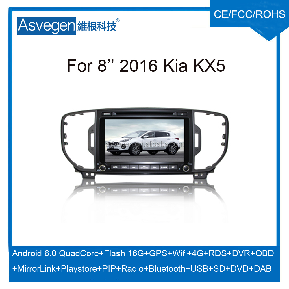 Wholesale Android Car DVD Player For 8inch Kia KX5 2016 Car GPS Support Buletooth MP3 Wifi Playstore With Auto Spare Parts Car